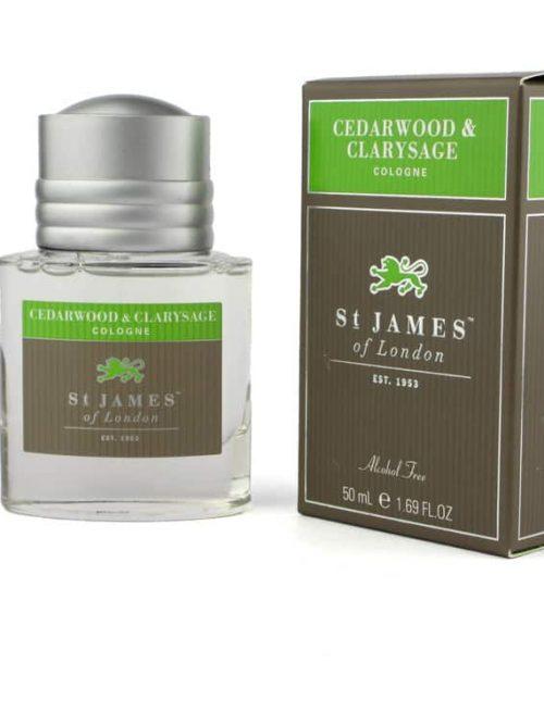 st James of London Cedarwood & Clarysage Cologne 50ml