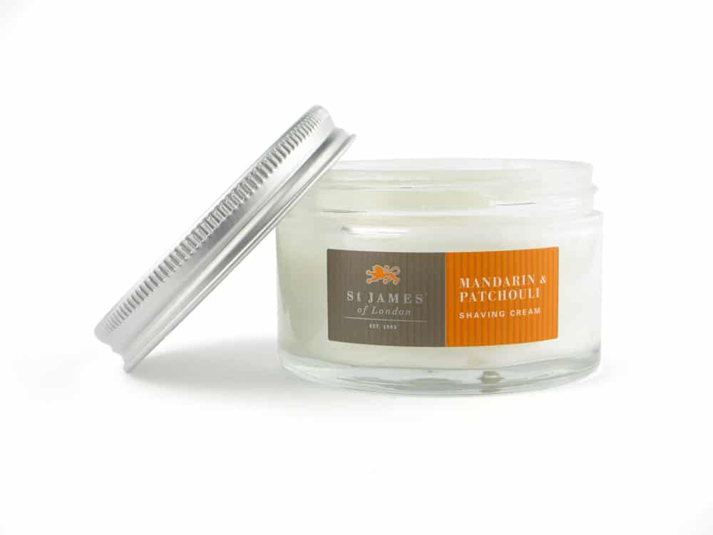 st James of London Mandarin & Patchouli Scheercrème