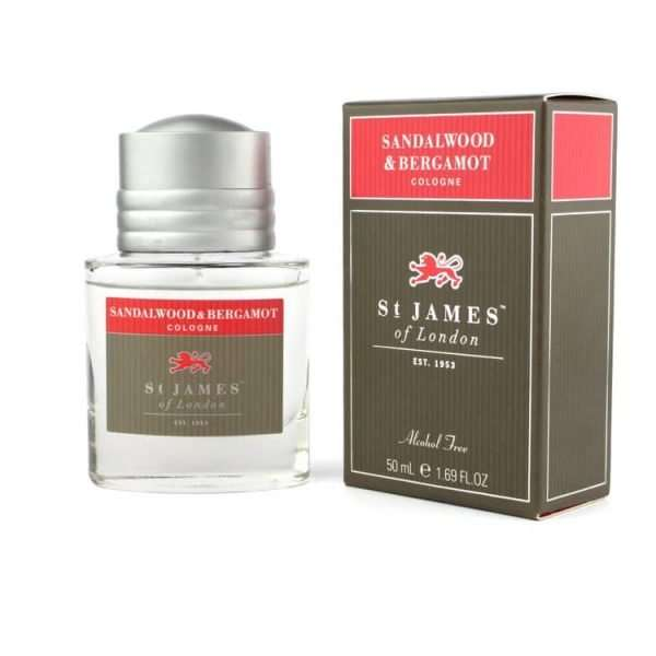 st James of London Sandalwood & Bergamot cologne