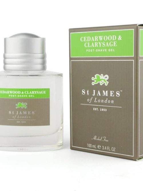 st James of London Cedarwood & Clarysage Post shave gel
