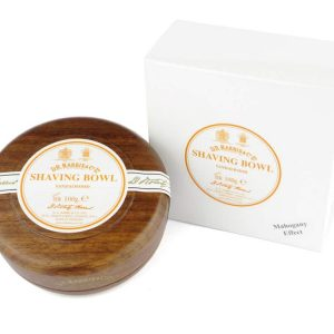 D.R. Harris Sandalwood Scheerzeep in mahony (look) houten kom