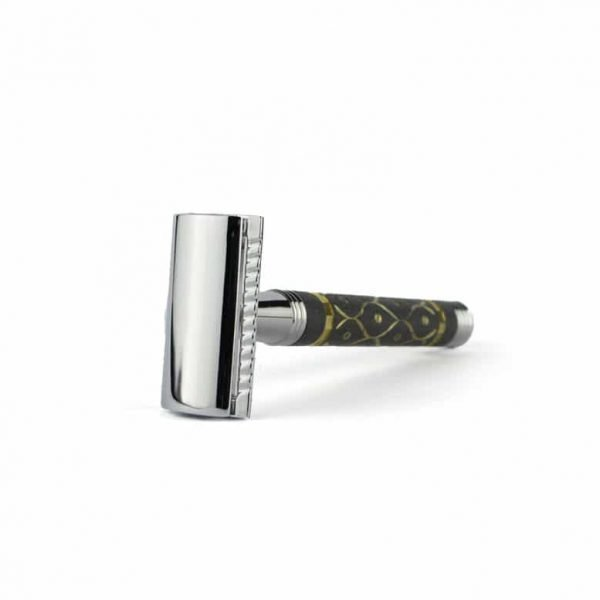 Parker 65R safety razor krabbertje met goud bewerkt drie delig