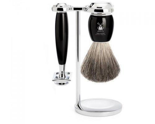 muehle-scheerset-vivo-3-delig-zwart-safety razor